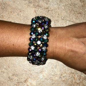 Elegant Multicolor Crystal Elastic Layer Bracelet